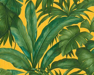 Carta da parati - Versace wallpaper Versace 2 Giungla in Giallo Verde