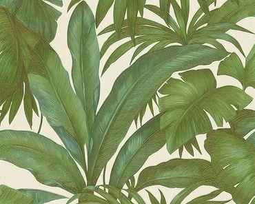 Carta da parati - Versace wallpaper Versace 2 Giungla in Beige Verde Metalizzato