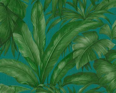 Carta da parati - Versace wallpaper Versace 2 Giungla in Blu Verde