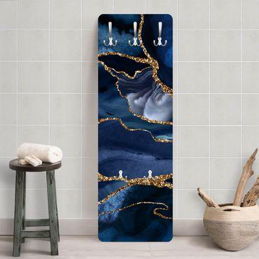 Appendiabiti - Oro Glitter Onde Di Fronte Blu