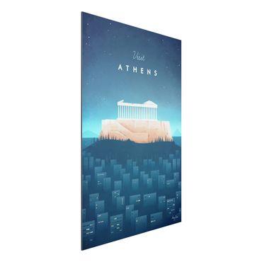 Stampa su alluminio - Poster di viaggio - Atene - Verticale 3:2