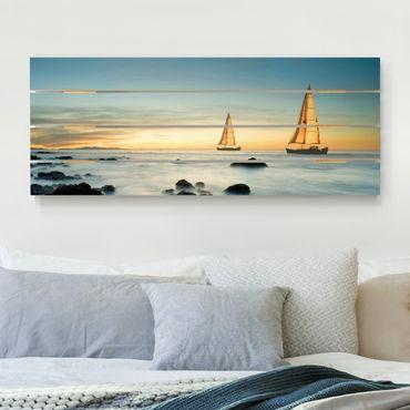 Stampa su legno - Barche a vela in The Ocean - Orizzontale 2:5
