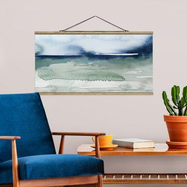Foto su tessuto da parete con bastone - Ocean Waves I - Orizzontale 1:2