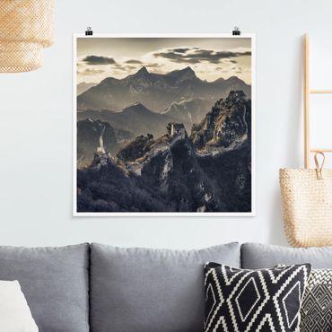 Poster - La Grande Muraglia cinese - Quadrato 1:1