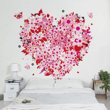 Carta da parati - Retro Floral Heart
