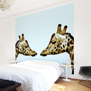 Carta da parati - Giraffes In Love