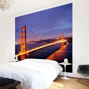 Carta da parati - Golden Gate Bridge At Night