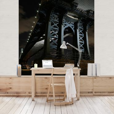 Carta da parati - Manhattan Bridge at Night