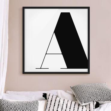 Poster con cornice - Antiqua Letter A - Quadrato 1:1