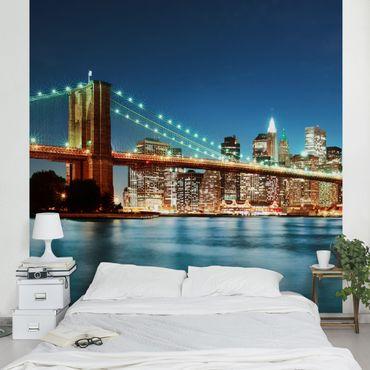 Carta da parati - Notte Manhattan Bridge