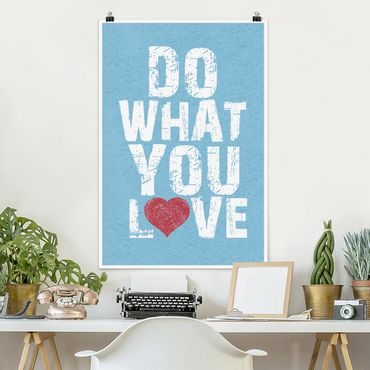 Poster - No.KA26 fare ciò che amo - Verticale 3:2