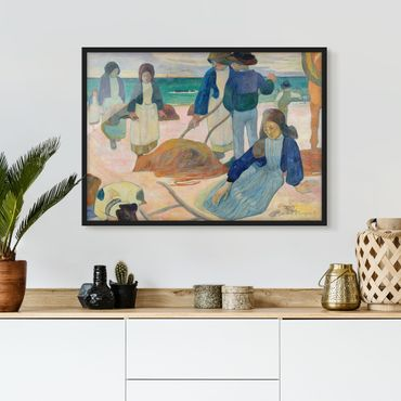 Poster con cornice - Paul Gauguin - Seaweed Collectors - Orizzontale 3:4