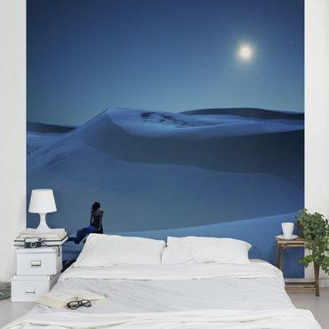 Carta da parati - Full moon over the desert