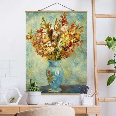 Foto su tessuto da parete con bastone - Auguste Renoir - Gladioli In Vaso - Verticale 4:3