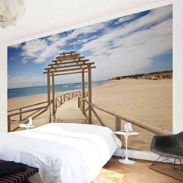 Carta da parati - Beach path to the sea in Andalusia