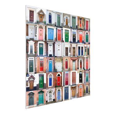 Quadro in forex - Mural 100 Doors - Quadrato 1:1