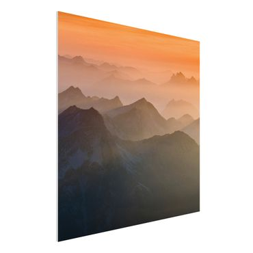 Quadro in forex - View Of The Zugspitze - Quadrato 1:1