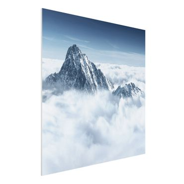 Quadro in forex - The Alps Above The Clouds - Quadrato 1:1