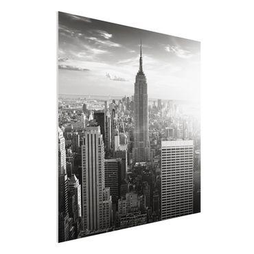 Quadro in forex - Manhattan Skyline - Quadrato 1:1
