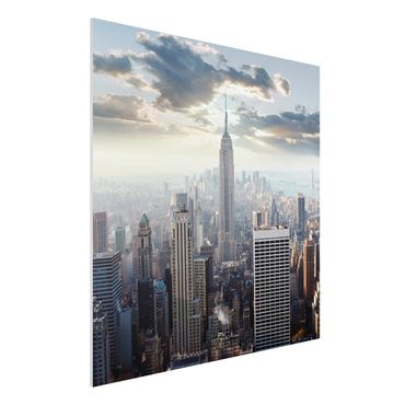 Quadro in forex - Sunrise In New York - Quadrato 1:1