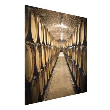 Quadro in forex - wine cellar - Quadrato 1:1
