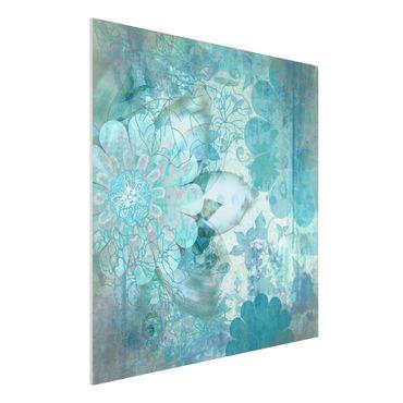 Quadro in forex - Winter Flowers - Quadrato 1:1