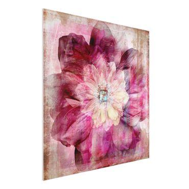 Quadro in forex - Grunge Flower - Quadrato 1:1