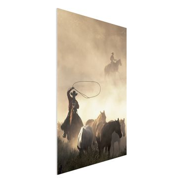 Quadro in forex - Cowboys - Verticale 2:3
