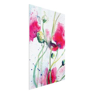 Quadro in forex - Painted Poppies - Verticale 2:3