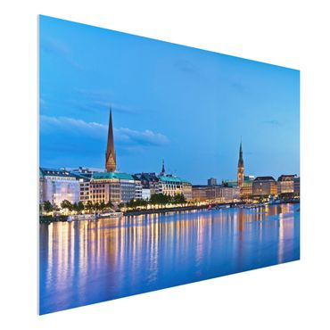 Quadro in forex - Hamburg skyline - Orizzontale 3:2