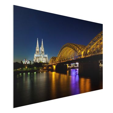 Quadro in forex - Cologne At Night - Orizzontale 3:2
