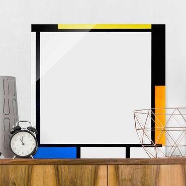 Quadro in vetro - Piet Mondrian - Composizione II - Quadrato 1:1