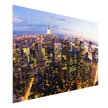 Quadro in forex - New York Skyline At Night - Orizzontale 3:2
