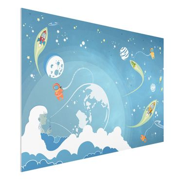 Quadro in forex - No.MW16 Colorful Space bustle - Orizzontale 3:2