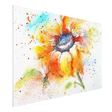 Quadro in forex - Painted Sunflower - Orizzontale 3:2
