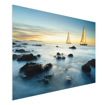 Quadro in forex - Sailboats in the ocean - Orizzontale 3:2