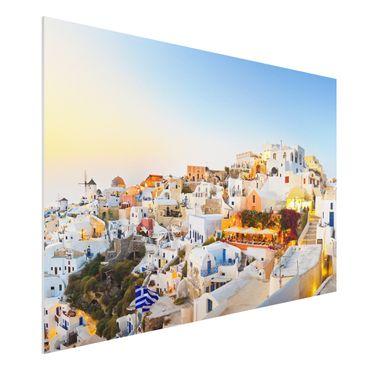 Quadro in forex - Shining Santorini - Orizzontale 3:2