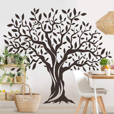 Adesivo murale - Olive albero con foglie