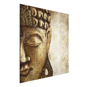 Quadro in alluminio - Vintage Buddha