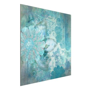 Quadro in alluminio - Winter Flowers