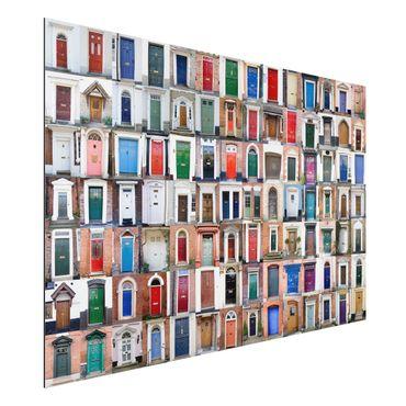 Quadro in alluminio - 100 Doors