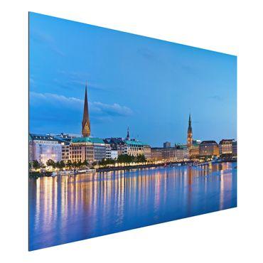 Quadro in alluminio - Hamburg skyline