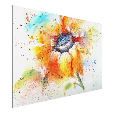 Quadro in alluminio - Painted Sunflower