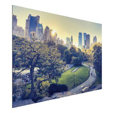Quadro in alluminio - Peaceful Central Park