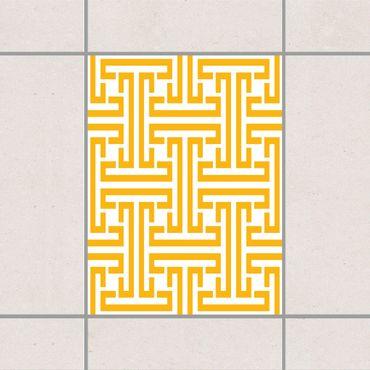 Adesivo per piastrelle - Decorative Labyrinth Melon Yellow 20cm x 20cm