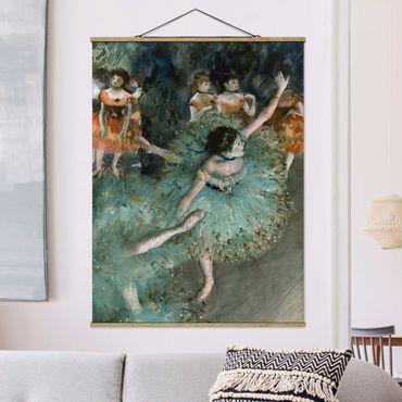 Foto su tessuto da parete con bastone - Edgar Degas - Verde Ballerini - Verticale 4:3