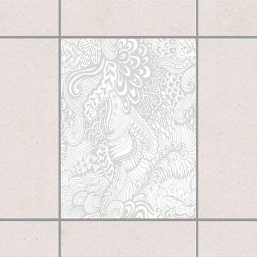 Adesivo per piastrelle - Poseidon's Garden Light Grey 20cm x 20cm