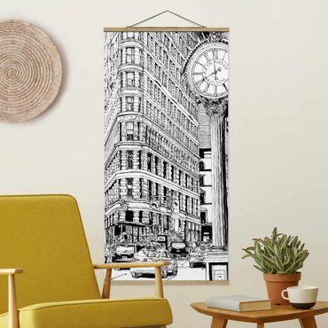 Foto su tessuto da parete con bastone - Città Studi - Flatiron Buidling - Verticale 2:1