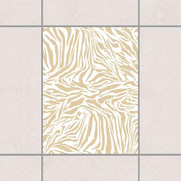Adesivo per piastrelle - Zebra Design Light Brown 10cm x 10cm