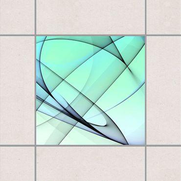 Adesivo per piastrelle - Autumn Shapes 25cm x 20cm